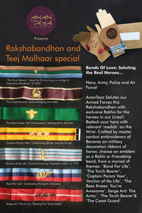 Bonds Of Love Real Heroes Navy Army Police Air Force Rakhi Velvet Embroidered James Bond 007 Band
