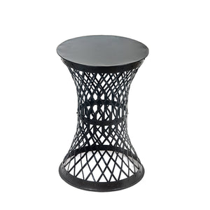 Strip Stool Metal strip weave stool furniture reuse recycle upcycle