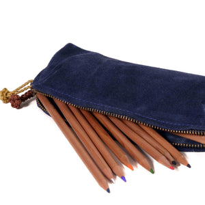 Safa Indigo Pencil Pouch Wearable Bag, pouch, stationary