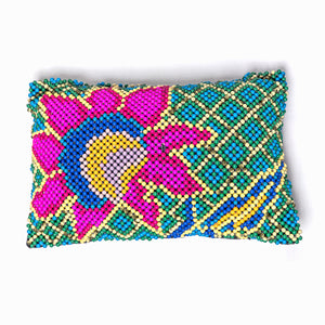 "Sheesh Bagh Cushion Gulaab 18""x12"" Home textiles Cushions / Bolsters Cushion Cover Glass Bead Making Handcraft"