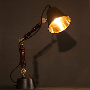 Siyahi lamp table lamp handcarved wooden body Lighting