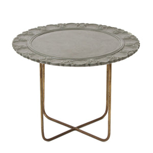 Stone Carving Table Grey