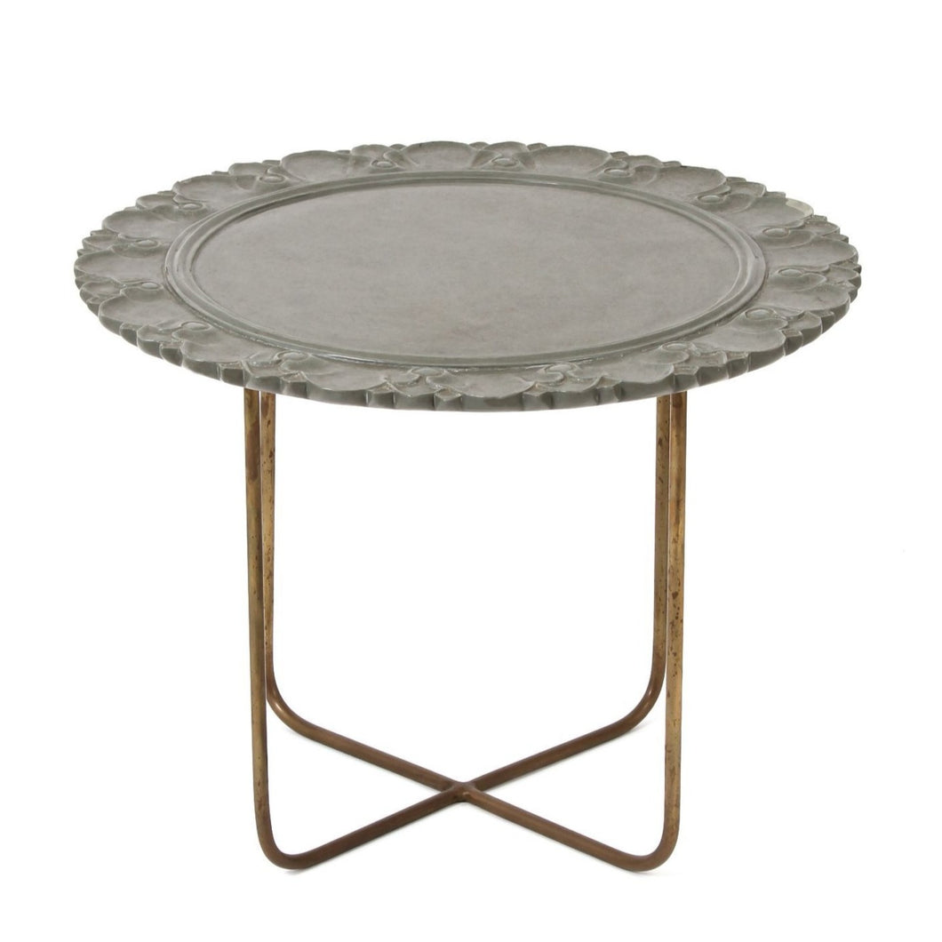 Stone Carving Table Grey Furniture	Side Table Handcraft