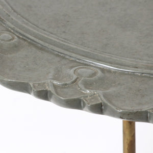 Stone Carving Table Grey Furniture, Side Table Handcraft, ancient table, vintage table