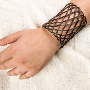 Tokri Cuff Long Ant Wearable Jewellery, hand cuff, black hand cuff, handcrafted hand cuff, bracelet