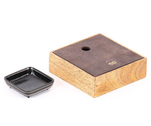 Tangram Bidri Lakeer Square box play at work handcrafted in bidri minimalist art like functionality zinc copper Home object serving table top stationery desktop organizer