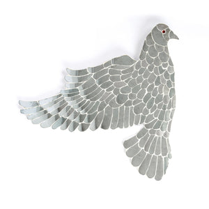 Thikri dove wall installation art mirror art work set of 3 flying mirror dove
