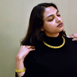 Tokri Gold necklace Wearable Jewellery, hand necklace, gold necklace, oxidized necklace, handcrafted necklace, jewellery
