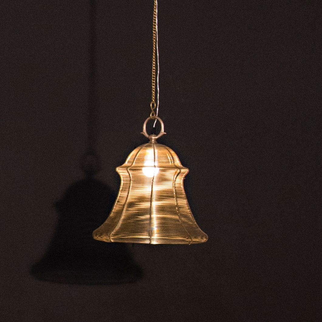 Wire bell lamp lighting wall ceiling hanging pendant brass