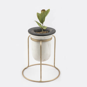 Birbal Planter- Tabletop , Outdoors , Planters , Stone Turning, plant, tabletop plant, best planter for home
