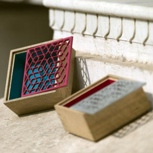 Zafar Jaali Box Square 6x6 In B