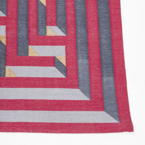 Amaze Dhurrie DEEG Square 5'x5' , Home textiles , Rugs , Carpets , Durrie weaving, handcrafted, made in India, artist