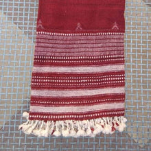 "Shawl Paghdi Design Sheep Wool Maroon 86""X39"" Wearable Apparel Accessory Handcraft"