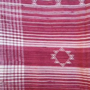 "Saree Tussar Silk Weaving Border White 45""X246"" Wearable Accessory Handcraft"