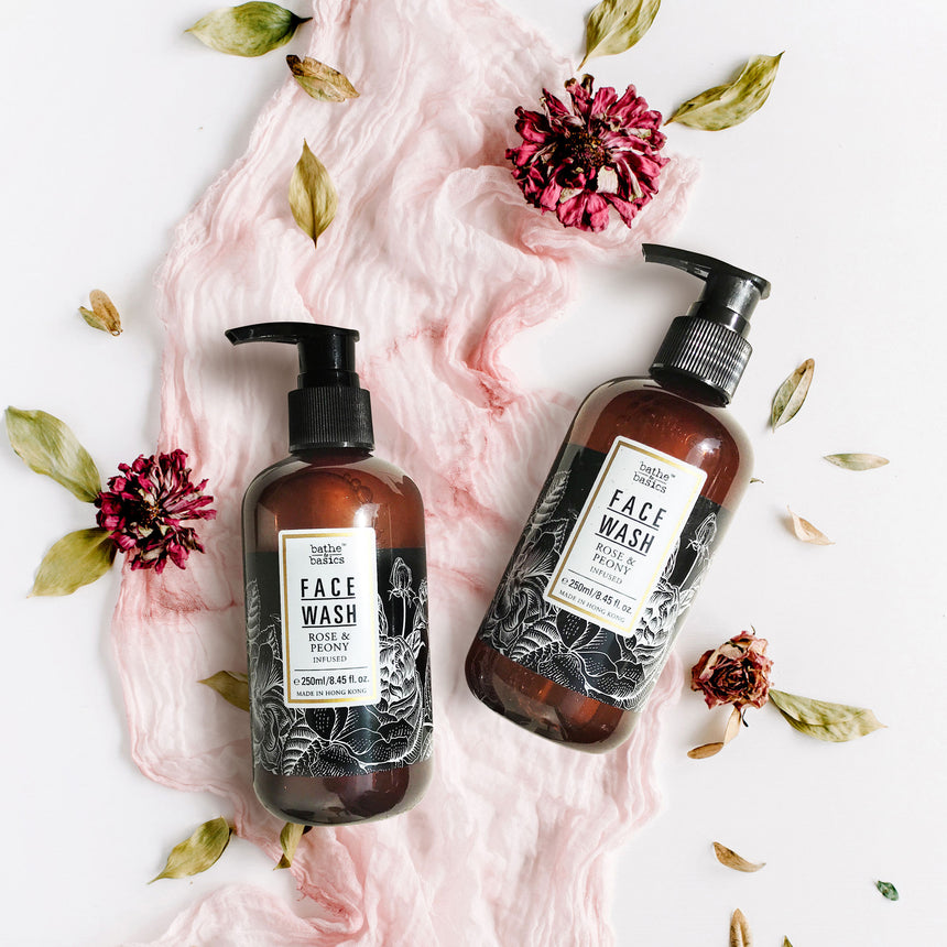 Natural Face Wash - Rose & Peony Infused - Bathe to Basics