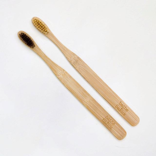 Natural Bamboo Toothbrush - Bathe to Basics
