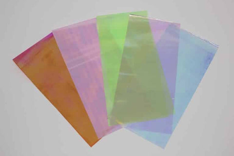 5 piece rainbow glass paper set