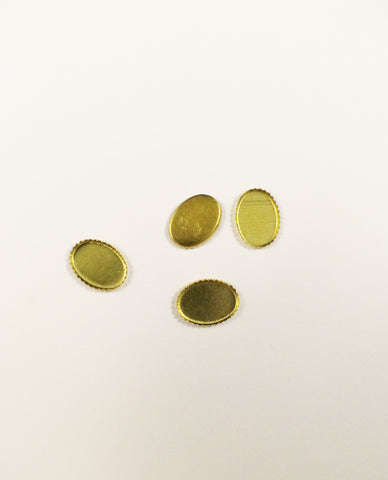 Gold Cabochon Bases - 6x8mm
