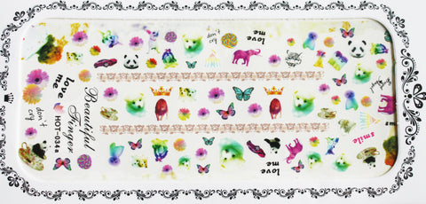 Party Animal design 2 - large water decals