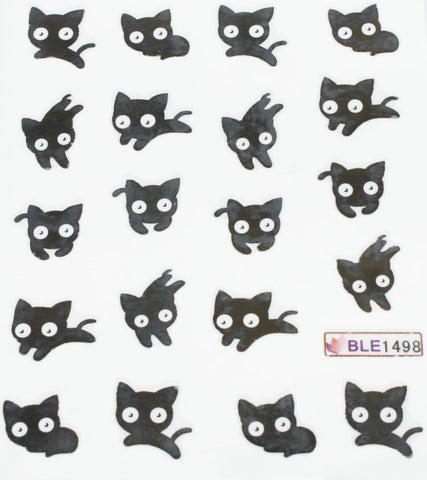 Black cat water decals