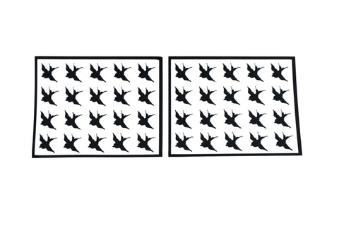 Swallow stickers - black