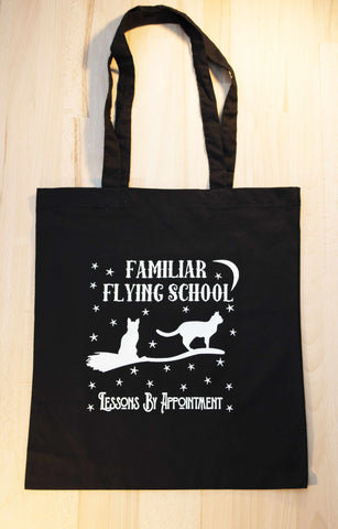 Flying school black - Tote