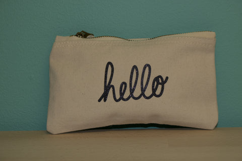 Hello - Small makeup Pouch