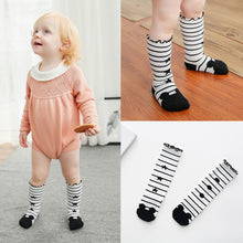 2017 Cartoon Cute Soft Cotton Girls Knee Socks Star Design Children Infant Long Tube Socks Infant Knee High White Kids Footwear