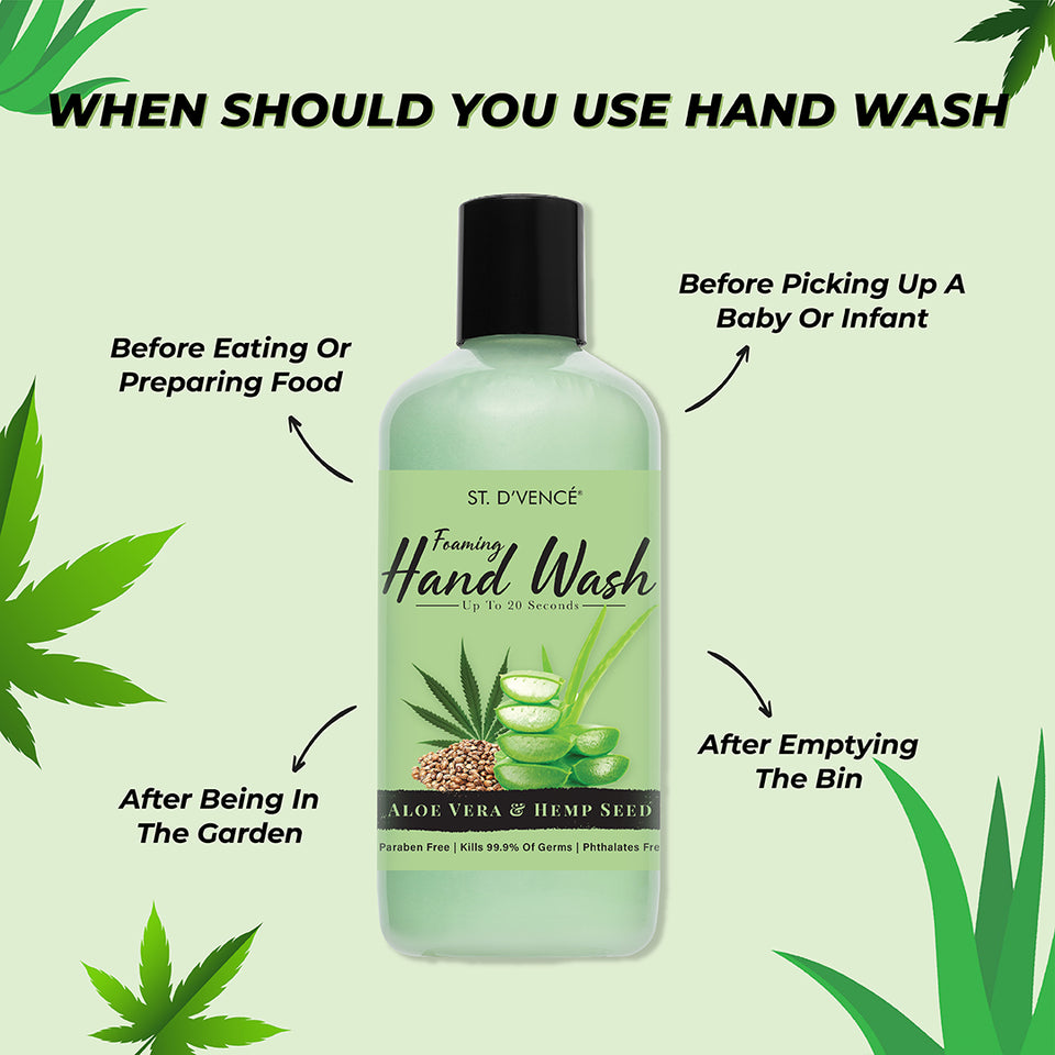 Hand Wash - Aloe Vera & Hemp Seed, 300 ml