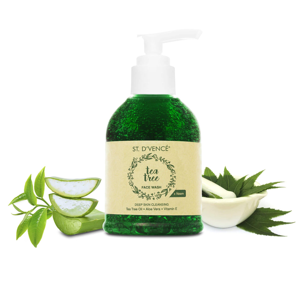 Tea Tree Oil Face Wash with Neem & Aloe Vera, 150ml