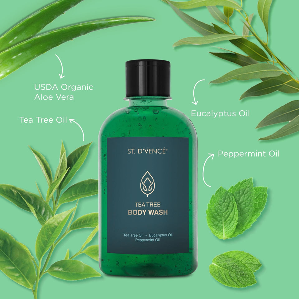 Tea Tree & Eucalyptus & Peppermint Oil Body Wash, 275 ml