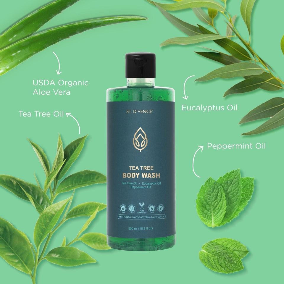 Tea Tree Body Wash with Eucalyptus and Peppermint Oil, 500 ml