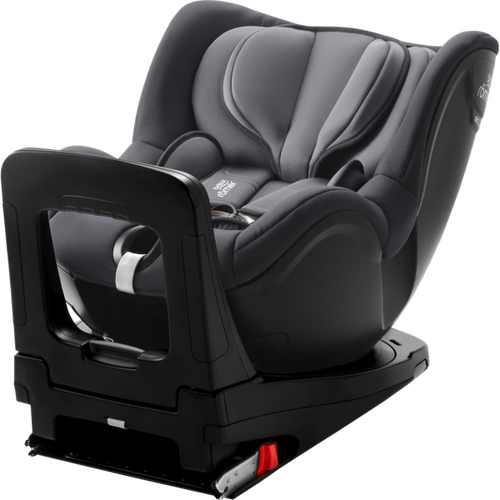 Britax Dualfix i-Size Storm Grey | Birth - 105cm Swivel Car Seat