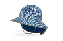 Load image into Gallery viewer, Sunday Afternoons Kids Sun Play Hat SPF50+ Blue Electric Stripe
