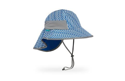Sunday Afternoons Kids Sun Play Hat SPF50+ Blue Electric Stripe