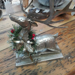 Metal Reindeer Candle Holder - Excludes Candle