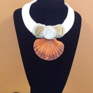 Corded Choker with Shell & Embellishments