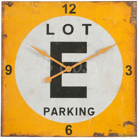 """Parking Lot"" Clock"