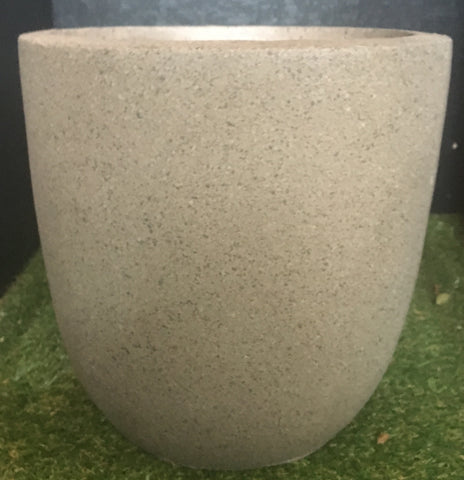 Small Round Taupe Pot