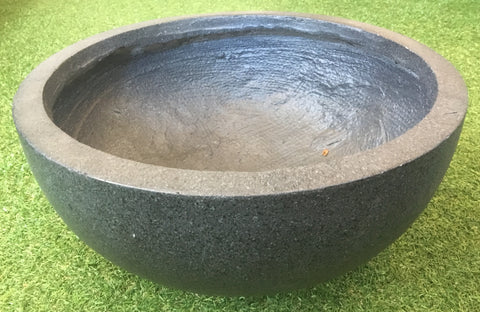 Small Black Crushed Stone Bowl