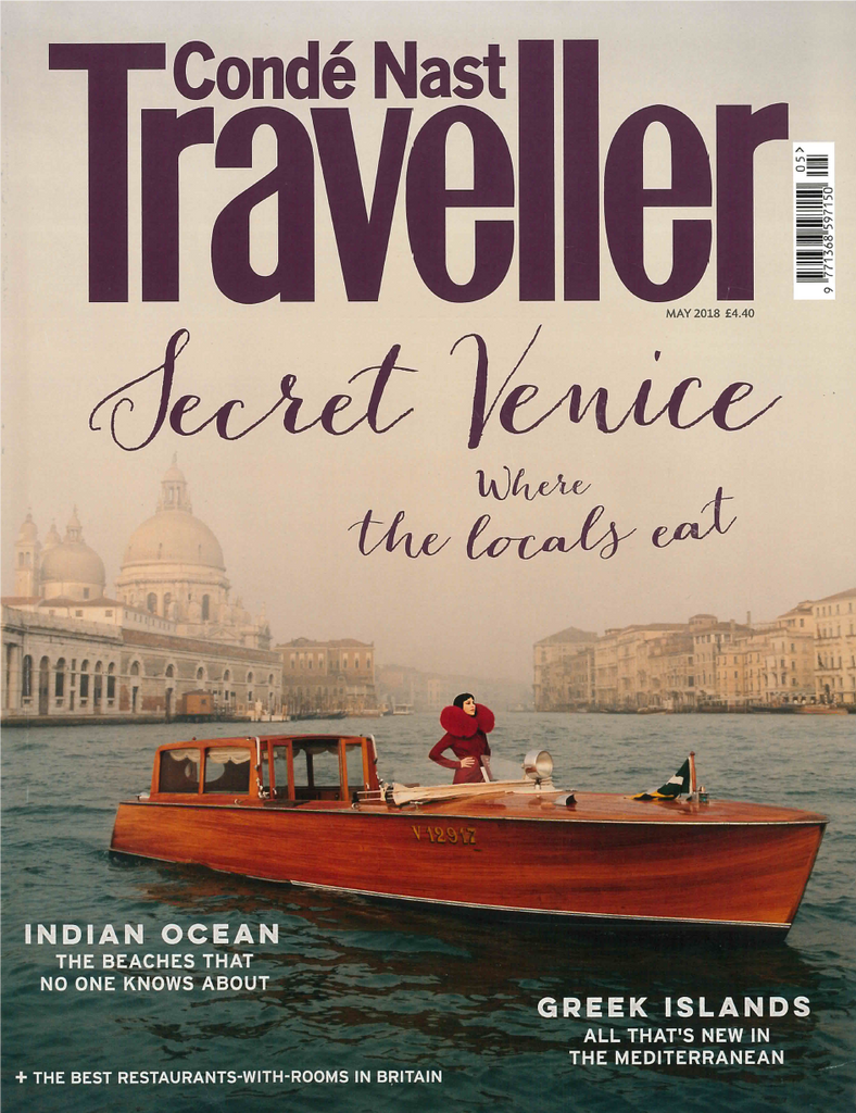 Cover conde nast traveller magazine may 2018
