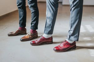 oxford and monk strap leather brogues goodyear shoes