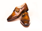 single monk strap brogues goodyear welted
