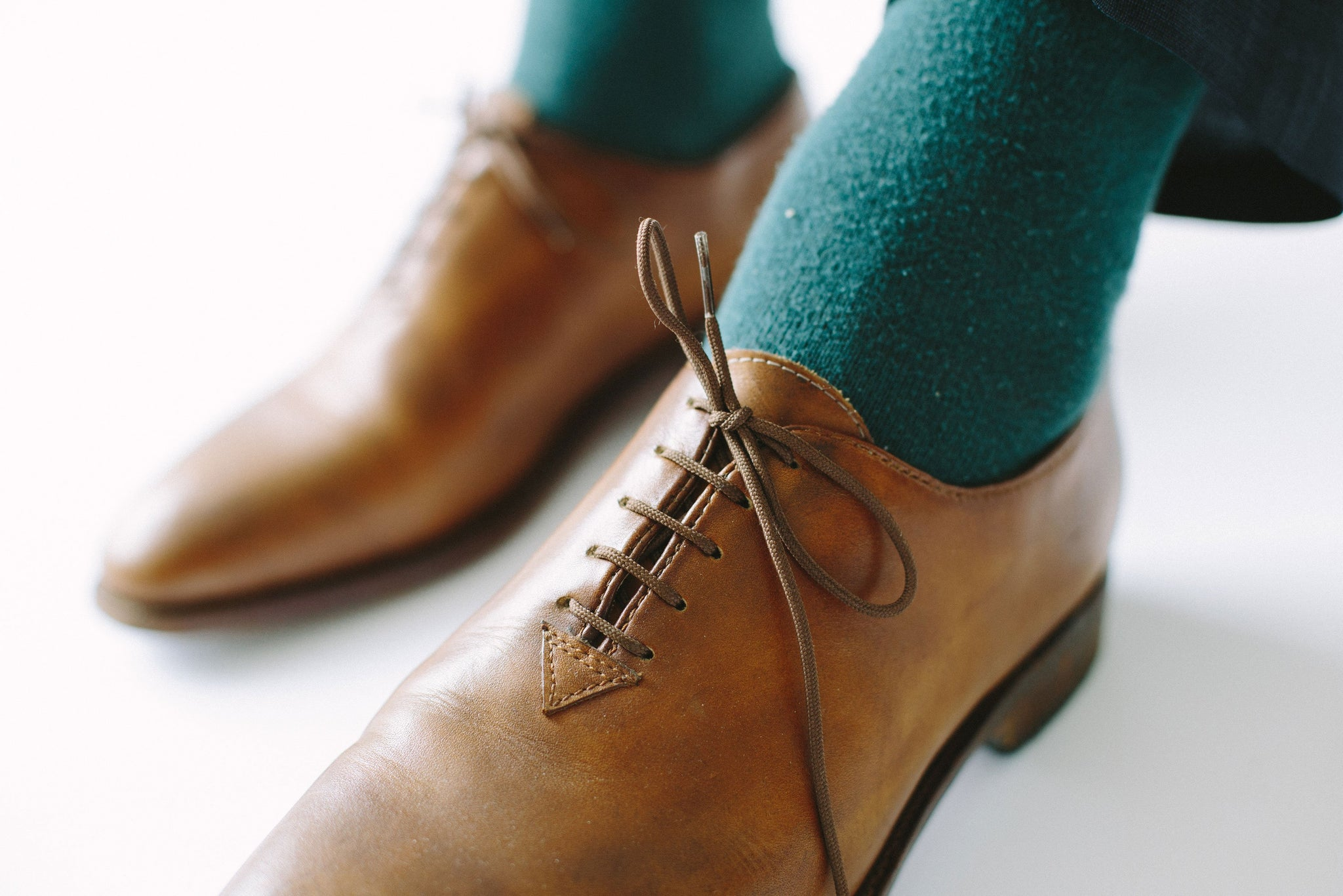Handmade Brogues For Men Tobacco Color Leather One Piece Of