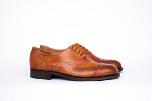 oxford cap toe brogues in cognac color