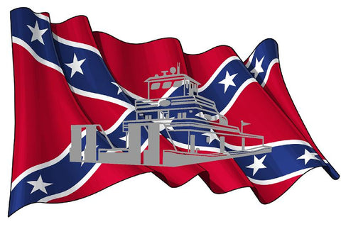 Rebel Flag with Towboat Decal