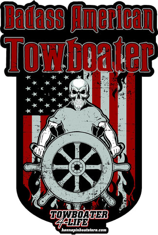 Badass American Towboater Decal