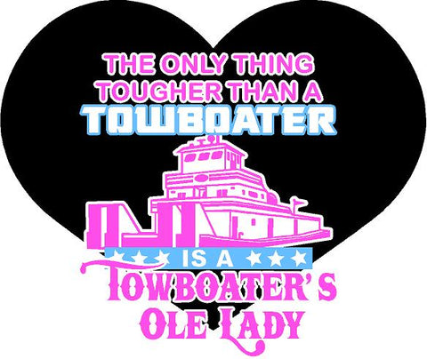 Towboater Ole Lady Decal