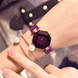 Jewel Gem Cut Wrist Watches for Women