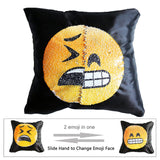 Funny Changing Smiley Faces Emoji Pillowcase